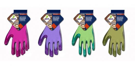 Перчатки БЕРТА 169 нейлоновые цветные с латексным покрытием цена