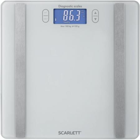 Весы напольные Scarlett SC-BS33ED85 белый весы напольные scarlett sc bs33e060 фиолетовый