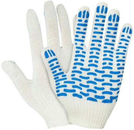 Перчатки НИЖТЕКСТИЛЬ 0011А х/б с ПВХ 10 класс 44гр волна rus белые стоимость