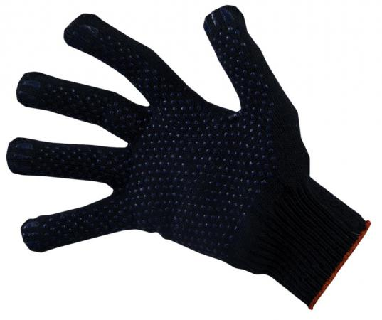 Перчатки НИЖТЕКСТИЛЬ 0014P-1 х/б с ПВХ 10 класс 47гр точка черные Люкс перчатки пвх русский инструмент 67713 х б шахматный облив 10 класс