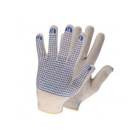 Перчатки НИЖТЕКСТИЛЬ rus0010 х/б с ПВХ 10 класс 32гр точка rus белые перчатки newton per 2 10 3 3 х ниточные с пвх точка