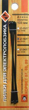 Пилки д/лобзика ЭНКОР 19197 5 z18 для Корвет-87,88 5шт пилки для лобзика irwin 115мм 5шт t234x 10504228