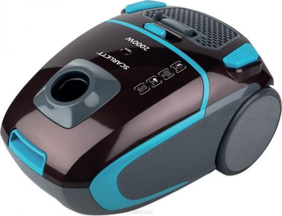 лучшая цена Пылесос Scarlett SC-VC80B80 2000Вт коричневый/голубой