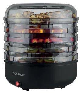 Сушка для фруктов и овощей Scarlett SC-FD421010 5под. 250Вт черный сушка для фруктов и овощей tefal df1008