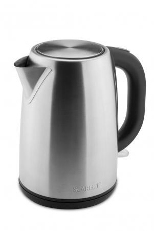 Чайник электрический Scarlett SC-EK21S49 2200 Вт стальной 1.7 л металл чайник scarlett is ek20p01 2200 вт 1 7 л металл пластик белый коричневый