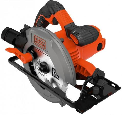 Циркулярная пила Black & Decker CS1550-QS 1500 Вт 190мм black decker rs890k пила сабельная