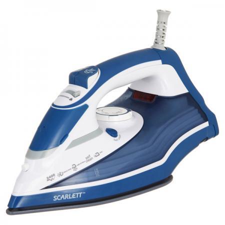 Утюг Scarlett SC-SI30K17 2400Вт синий белый утюг scarlett sc 135s 1600вт белый коричневый