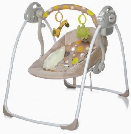 Электронные качели Baby Care Riva (коричневое) baby care baby care электрокачели riva с адаптером коричневый