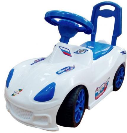 все цены на Каталка-машинка Orion Toys Полиция пластик от 1 года на колесах бело-синий ОР160кПол онлайн