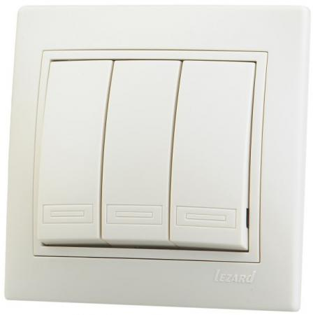 Выключатель LEZARD Мира 10 A кремовый 701-0303-109 цена