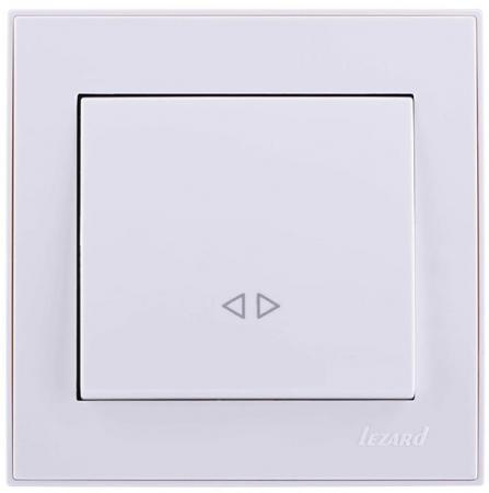 Выключатель LEZARD Рейн 10 A белый 703-0202-107
