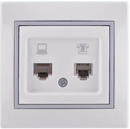 Розетка LEZARD 701-0215-143 1 А белый