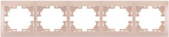 Рамка LEZARD 701-3000-150 серия Мира 5-ая горизонтальная жемчужно-белый перламутр