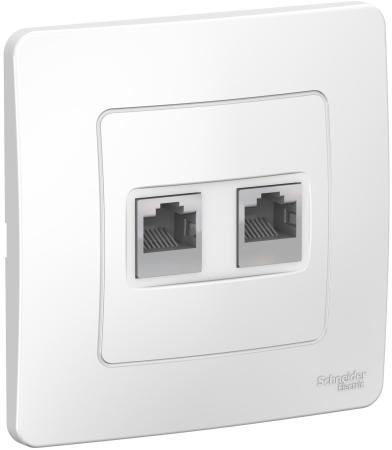 Розетка SCHNEIDER ELECTRIC BLNIS045451 Blanca компьютерная 2-м сп rj45 кат.5e бел. розетка компьютерная о у schneider electric blanca белый