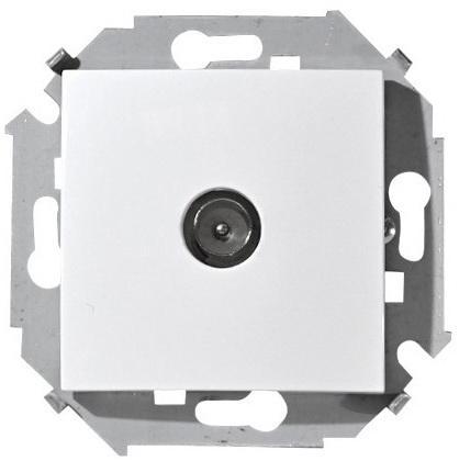 Розетка SIMON 15 1591475-030 TV белая одиночная винтовой зажим цены