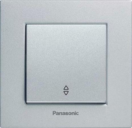 Механизм переключателя PANASONIC WKTT0003-2SL-RES Karre Plus 1кл проходной серебро рамка panasonic wktf0804 2sl res karre plus 6м горизонтальная белая