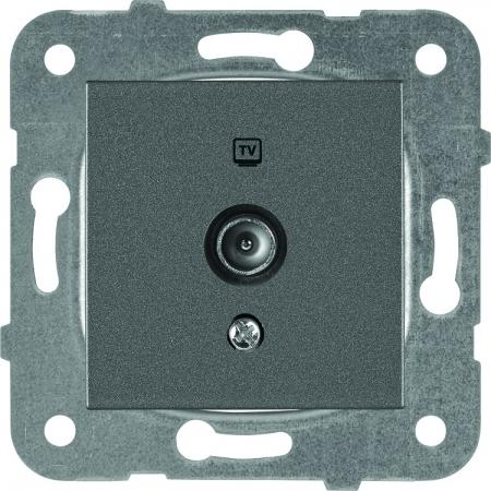 Механизм розетки PANASONIC WKTT0451-2DG-RES Karre Plus TV концевая темно-серая