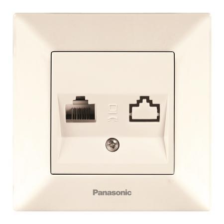 Розетка PANASONIC WMTC0205-2BG-RES Arkedia 2-я с/з крем