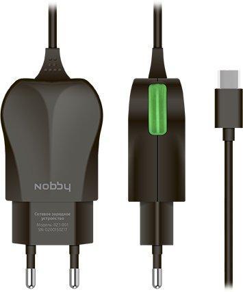 Сетевое зарядное устройство Nobby Practic 1.2A USB-C черный 0102NB-023-001 стоимость