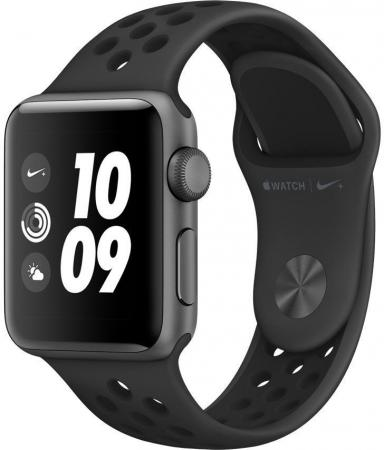 Apple Watch Nike+ Series 3 38mm Space Grey Aluminium with Nike Sport Band Anthracite/Black [MQKY2RU/A] high quality 20mm 22mm 24mm leather watch strap man watch straps black brown gray stainless steel buckle thick line watch band