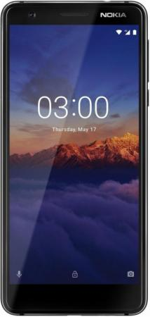 Смартфон NOKIA 3.1 черный 5.2 16 Гб NFC LTE Wi-Fi GPS 11ES2B01A01 смартфон nokia 7 plus черный
