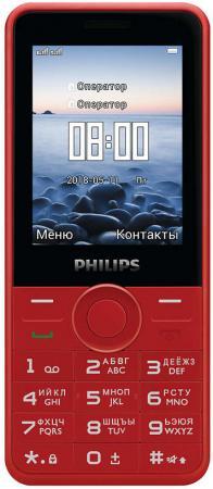"Мобильный телефон Philips E168 красный 2.4"" мобильный телефон philips e168 black"
