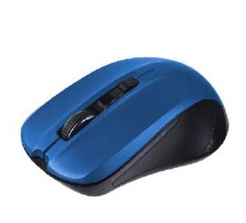Мышь беспроводная Perfeo PF-381-WOP-DBL синий USB + радиоканал мышь беспроводная perfeo pf 763 wop w y белый жёлтый usb радиоканал