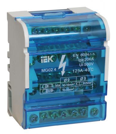 Iek YND10-4-07-100 Шины на DIN-рейку в корпусе (кросс-модуль) ШНК 4х7 3L+PEN ИЭК расцепитель минимального максимального напряжения рмм47 на din рейку iek mva01d rmm 312297