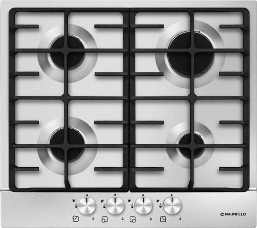 Варочная панель газовая Maunfeld MGHS.64.77S серебристый