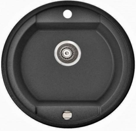 OTAGO, 505 803 012, цвет black METALIC(чер.металл),мойка врезная,гранит,одна чаша(1b), 500х500х190