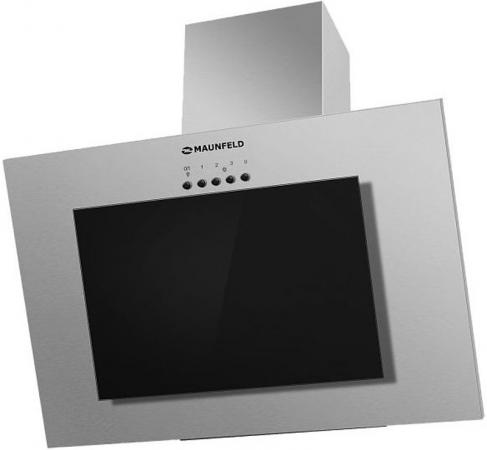 Вытяжка подвесная Maunfeld Tower GS 90 нержавеющая сталь\\черное стекло черный/нержавеющая сталь вытяжка со стеклом maunfeld tower g 90 чёрный черное стекло