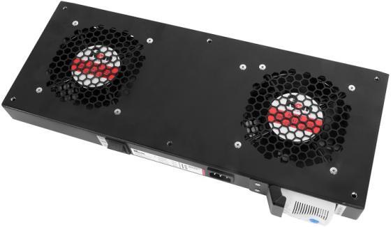 ЦМО Модуль вентиляторный, 2 вентилятора с терморегулятором, чёрный R-FAN-2T-9005 цмо модуль вентиляторный 3 вентилятора с терморегулятором чёрный r fan 3t 9005