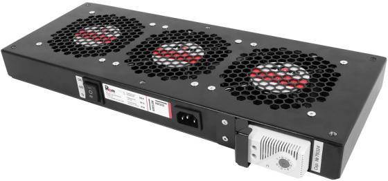 лучшая цена ЦМО Модуль вентиляторный, 3 вентилятора с терморегулятором, чёрный R-FAN-3T-9005