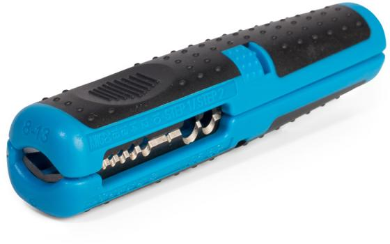 КВТ 61671 Автоматический многофункциональный стриппер с винтом микронастройки WS-09 инструмент для снятия изоляции квт ws 09 61671