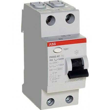 ABB 2CSF202004R1250 Выкл.диф.тока 2мод. FH202 AC-25/0,03 телефонная розетка abb bjb basic 55 шато 1 разъем цвет черный