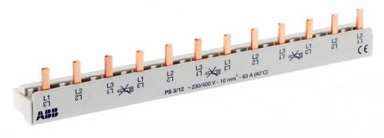 ABB 2CDL230001R1012 3ф.шина к. 12мод.63А PS3/12 автомат 3p 63а тип с 6 ka abb s203