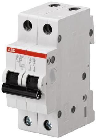 ABB 2CDS242001R0164 Автоматич.выкл-ль 2-пол. SH202L C16 автомат abb sh202l c32