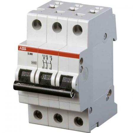 ABB 2CDS253001R0634 Автомат.выкл-ль 3-полюсной S203 C63 автомат abb s203 c10 3 полюсной