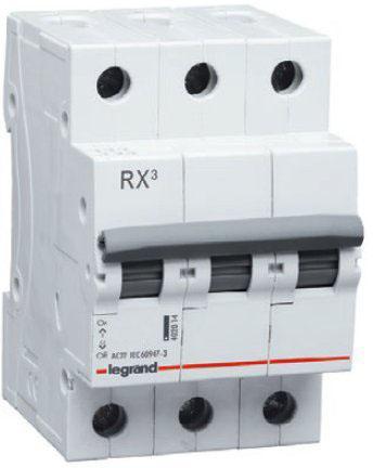 Legrand 419710 RX3 Авт.выключатель 4,5кА 25А 3П C
