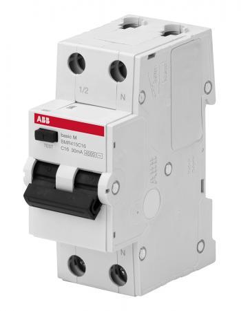 ABB 2CSR645041R1164 Выкл. авт. диф. тока, 1P+N, 16А, C, 4.5kA,30мА, AC, BMR415C16 все цены