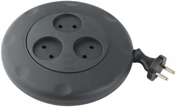 ЭРА Б0019039 Удлинитель-рулетка UR-3-3m-B Calypso без заземления черный 3 гнезда 3 м {полипропилен, 2х0,75 мм2} цена и фото