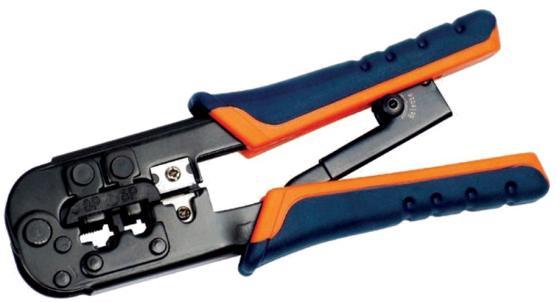ITK TM1-B11H Инструмент обжим для RJ-45,12,11 с x рап. ме x . сине-оранж цена и фото
