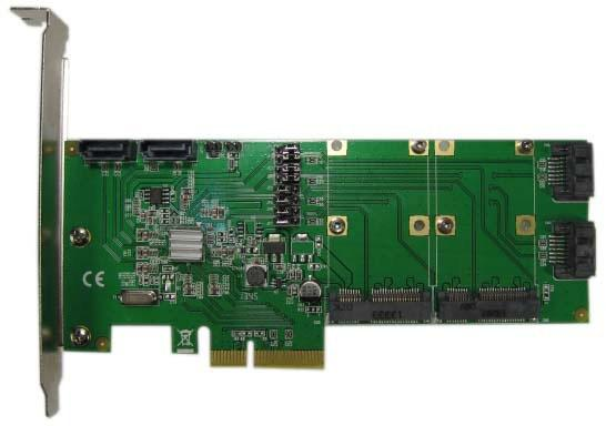 Espada Контроллер PCI-E, HYPER Duo, 4int SATA3 + 2 mSATA, FG-EST14A-1, ОЕМ (40056) контроллер pci e x1 to 1port sata3 6gb s 1 port msata чип asmedia asm1061 pcie020b espada