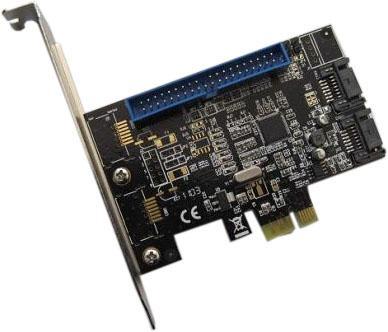 Espada Контроллер PCI-E, SATA3 RAID 2 int port+ 1 port IDE, FG-EST04A-1-(BU01), oem, (Ch) (39188) контроллер pci e x1 to 1port sata3 6gb s 1 port msata чип asmedia asm1061 pcie020b espada