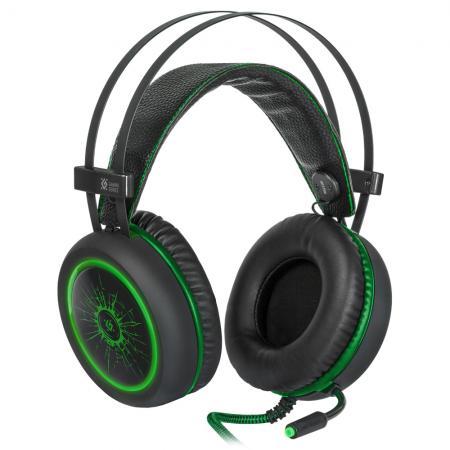 Игровая гарнитура проводная Defender G-530D черный зеленый игровая гарнитура проводная razer kraken multi platform зеленый
