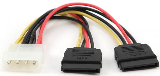 Фото - Cablexpert Кабель питания SATA CC-SATA-PSY-0.3M, 30см, molex 4pin/2x sata15pin, на 2 устр., пакет 2 in 1 sata to ide adapter ide to sata converter with sata cable power cable for hdd hard disk for sectional dvd cd