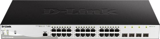 D-Link DGS-1210-28P/ME/B1A Управляемый коммутатор 2 уровня с 24 портами 10/100/1000Base-T с поддержкой PoE и 4 портами 1000Base-X SFP
