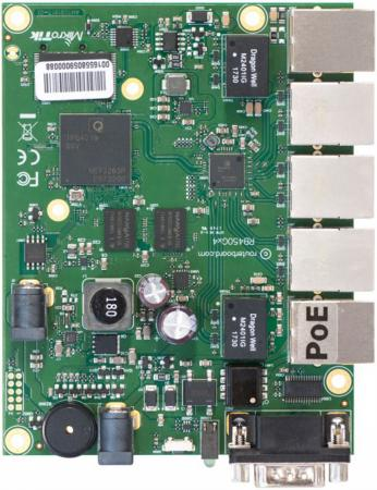 MikroTik RB450Gx4 Плата для роутеров, 716 МГц (4 ядра), 5х 1G RJ45, microSD, RS232 mikrotik rb450gx4 плата для роутеров 716 мгц 4 ядра 5х 1g rj45 microsd rs232