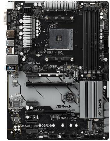 Материнская плата ASRock B450 PRO4 Socket AM4 AMD B450 4xDDR4 2xPCI-E 16x 4xPCI-E 1x 4 ATX Retail shindaiwa b450