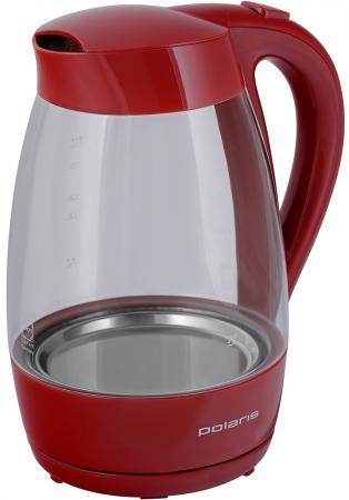 Чайник электрический Polaris Polaris PWK 1706CG 2000 Вт красный 1.7 л стекло цены онлайн
